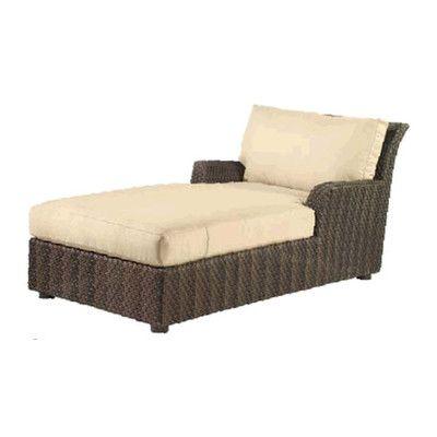 Woodard Aruba Chaise Lounge with Cushion Fabric Color: Sunbrella Beachball Bluestone
