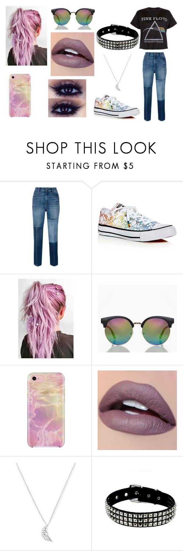 """Casual"" by ashgordan on Polyvore featuring STELLA McCARTNEY, Converse, Boohoo, Rebecca Minkoff, Estella Bartlett, casual, rock and pastel"
