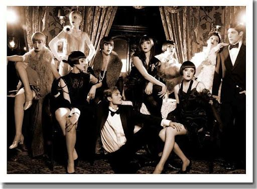 This was your classic 1920s speakeasy. It shows the flapper girls in their seductive attire. Girls should dress like this all the time, and if i had a choice i would always wear a tux