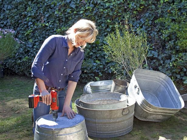 Make Your Own Wash Tub Planters  It's easy to blow your entire outdoor budget on planters. Instead of buying new ones at the home improvement store, hit the flea market or thrift store to find old metal washtubs.