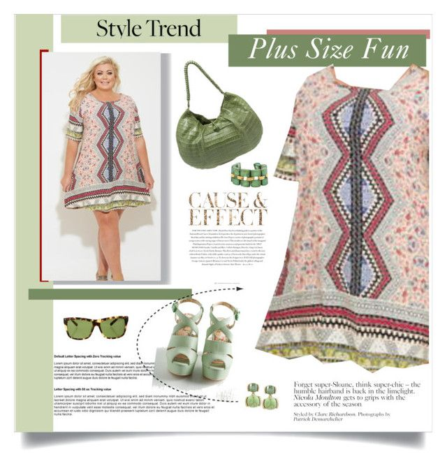 """""""Plus Size Aztec Fun"""" by feelgood35 ❤ liked on Polyvore featuring Envi, Gemma Collins, Miss L Fire, Nancy Gonzalez, Kenneth Cole, Dominique Denaive and Valentino"""