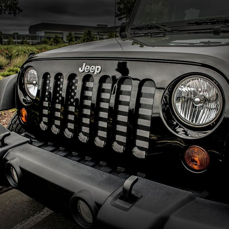 MADE IN THE USA by a Military Veteran! FREE SHIPPING ON THIS ITEM! Usually Ships 3-5 Days after Ordering. Keep your Jeep safe from hazards that may cause damage your radiator with a Dirty Acres Grill Insert. This grill insert takes little time to install, and requires no drilling for installation. Add a patriotic and rugged look to any Wrangler! **Black and Gray American Flag **PLEASE CHECK JEEP YEAR/MODEL BEFORE PLACING YOUR ORDER!** CJ: 1976-1986 YJ: 1987-1995 TJ/LJ: 1997-2006 JK...