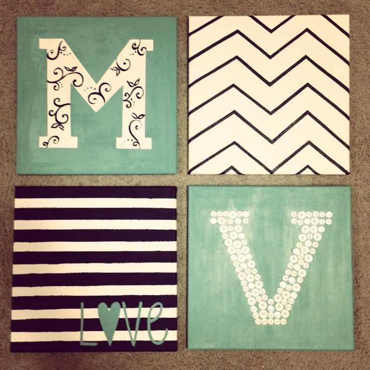 Cute canvas paintings to hang up in my college dorm (: