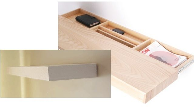 You need this for your new apartment floating shelves Secret drawer