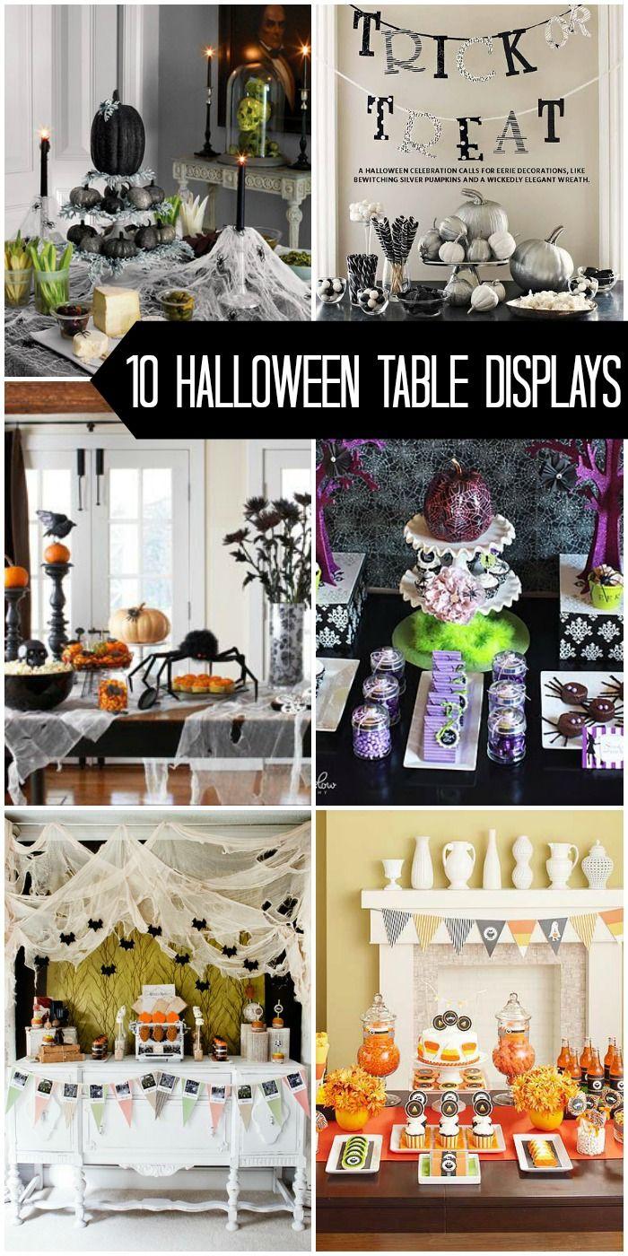 10 Halloween Table Displays To Inspire Your Own Halloween Table Decor On {  Lilluna