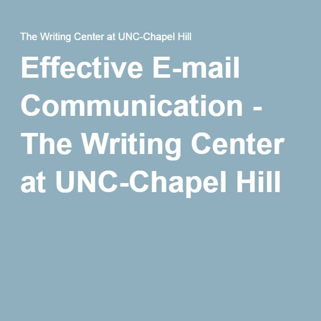 Unc chapel hill writing center