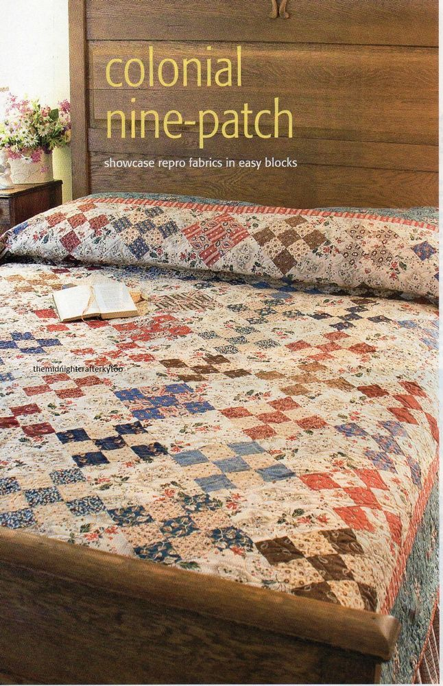 Colonial Nine Patch Quilt Pattern Pieced SM