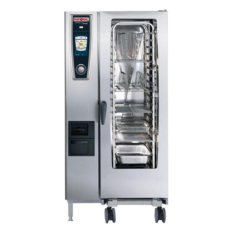 Rational SCC201G/N 20 Grid Self Cooking Center 1/1GN Natural Gas Combination Oven - GJ077-N