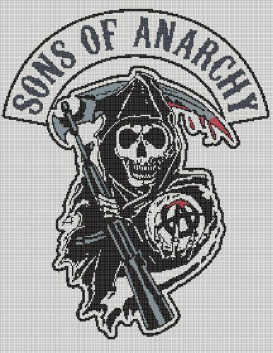 Sons of Anarchy crochet word chart