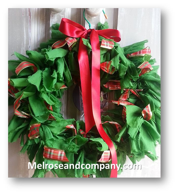 Christmas rag-wreath from Melrose & Co