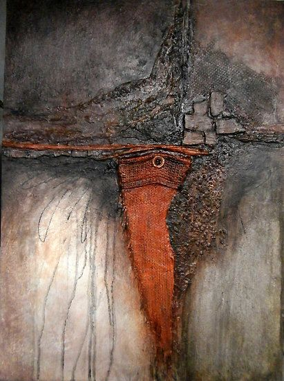 Star Six - The Orange Field by Buck Buchheister - Mixed media including wood and…