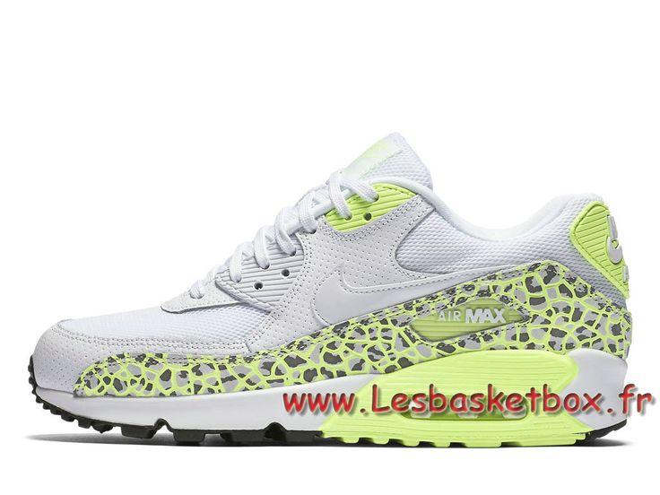 Nike WMNS Air Max 90 Premium Lime Green Animal 443817_103 Chausport  Officiel Nike Pour Femme/