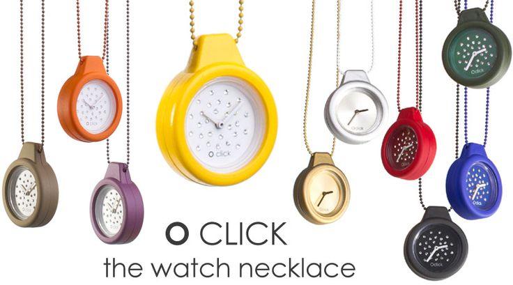 """O click"" The watch necklace www.Obag.com.co"