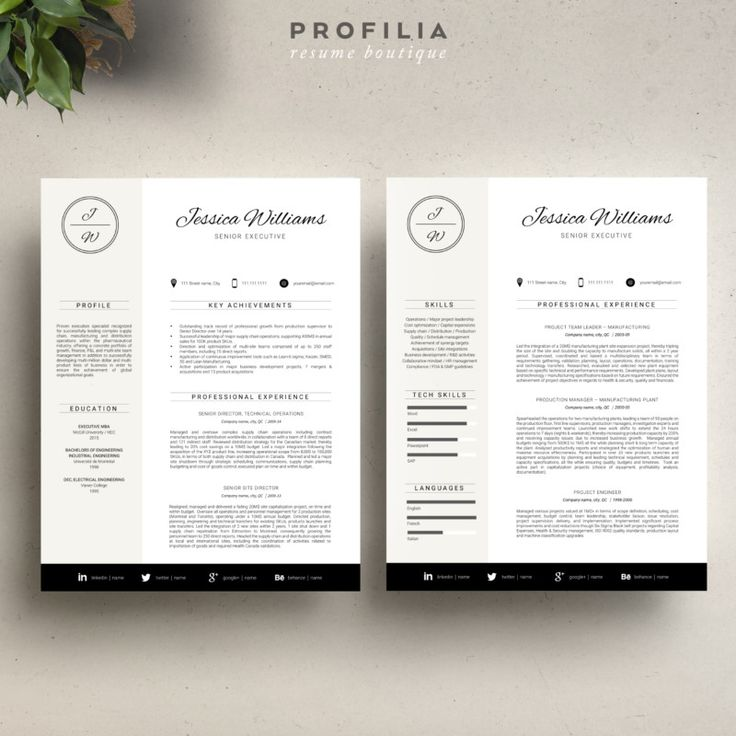 Resume Cover Letter Template Word Eps Ai And Psd Format