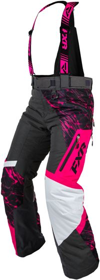 FXR Women's VERTICAL PRO PANT (2015). Snowmobile gear.  http://www.upnorthsports.com/snowmobile/snowmobile-clothing/snowmobile-bibs-pants/womens-bibs-pants/fxr-womens-vertical-pro-pant-2015.html