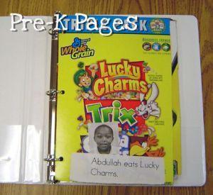 environmental print class book via www.pre-kpages.com
