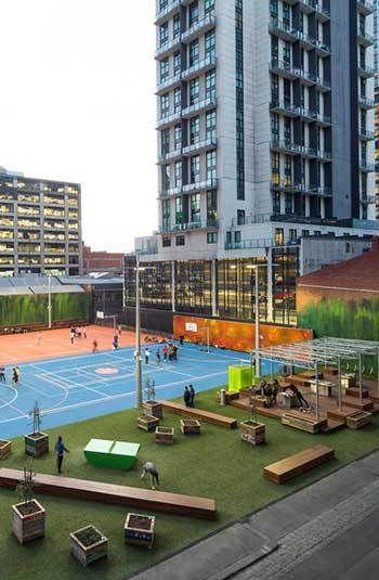 Peter Elliott Architecture + Urban Design, A'Beckett Urban Square; park; pop-up parks