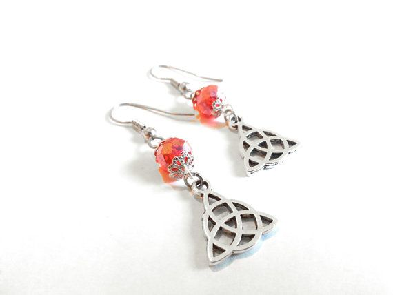 Hey, I found this really awesome Etsy listing at https://www.etsy.com/listing/218004982/red-crystal-triquetra-earrings-triquetra