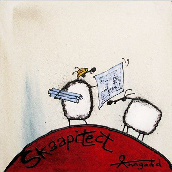 """Skaapitect"" by Ann Gadd. Note: 'skaap' is a sheep in Afrikaans."
