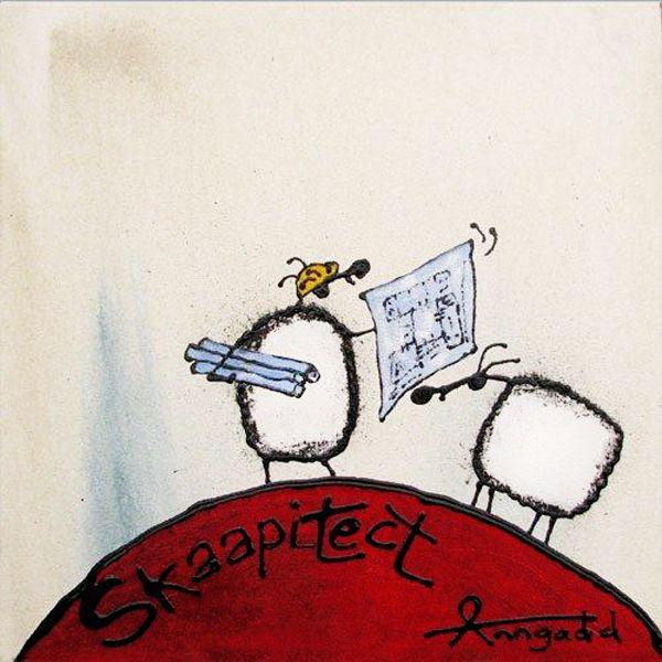 """""""Skaapitect"""" by Ann Gadd. Note: 'skaap' is a sheep in Afrikaans."""