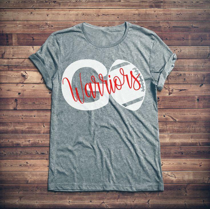 Personalized Football Shirt, Team Football Shirt, Football Wife, Game Day Shirt, High School, Football Mom Shirt, Women's Football Shirt by LuLuAndHope on Etsy