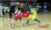 LeBron James Jr. SHOWS OUT At John Lucas All-Star Weekend Well, you know the saying – like father like son and if 10-year-old LeBron James Jr., aka Bronny is this good now, someone in the basketball world better sign him up now – for later cause he just keeps getting better and better...