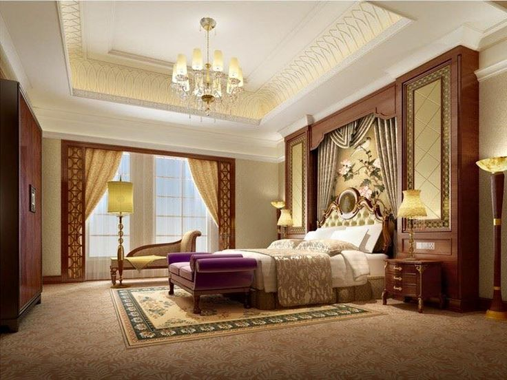 European And Chinese Style Luxury Bedroom Interior Design