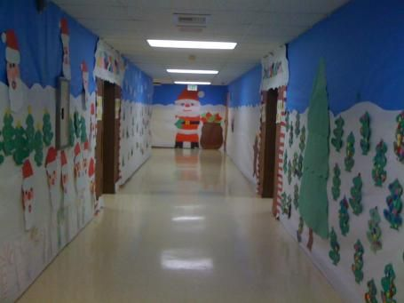 hallway at school. maybe this is whar sherrie had in mind with the hallway decorthis at school