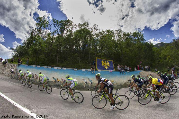 Giro d'Italia 2014 - photo Ranieri Furlan ©2014 Foto scattata con secondo corpo Canon Eos 7D con ottica Fisheye 8 mm. comandato da radiocomandi PocketWizard