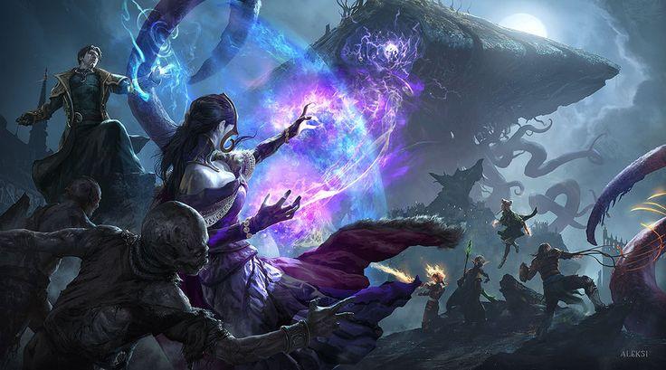 Emrakul entering Innistrad by Aleksi--Briclot.deviantart.com on @DeviantArt