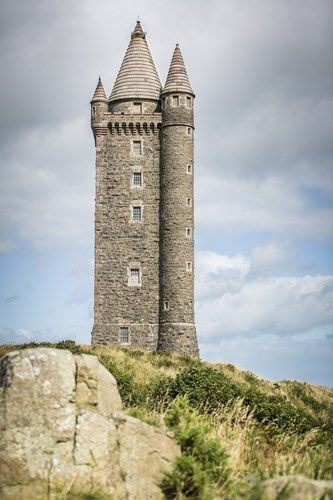 Scrabo Tower, overlooking Newtownards, County Down, Northern Ireland.