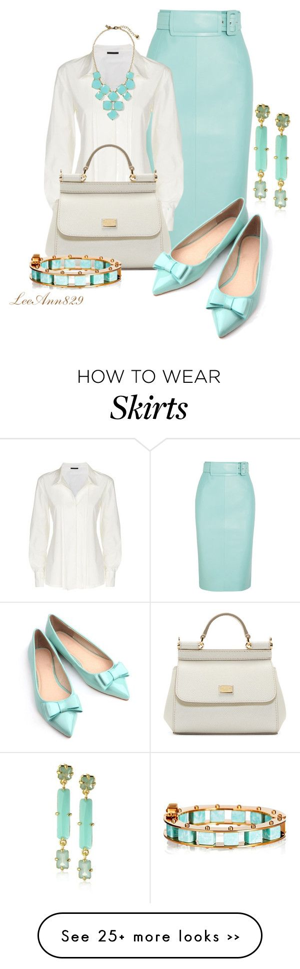 """""""leather pencil skirt for fall"""" by leeann829 on Polyvore featuring мода, Balenciaga, Donna Karan, Kate Spade, Dolce&Gabbana, Vince Camuto и Lele Sadoughi"""