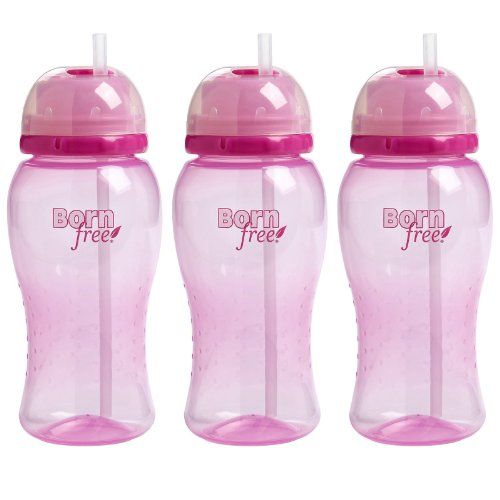 Born Free Twist N Pop 14 Ounce Straw Cup  Pink 3 Pack >>> You can get more details by clicking on the image.