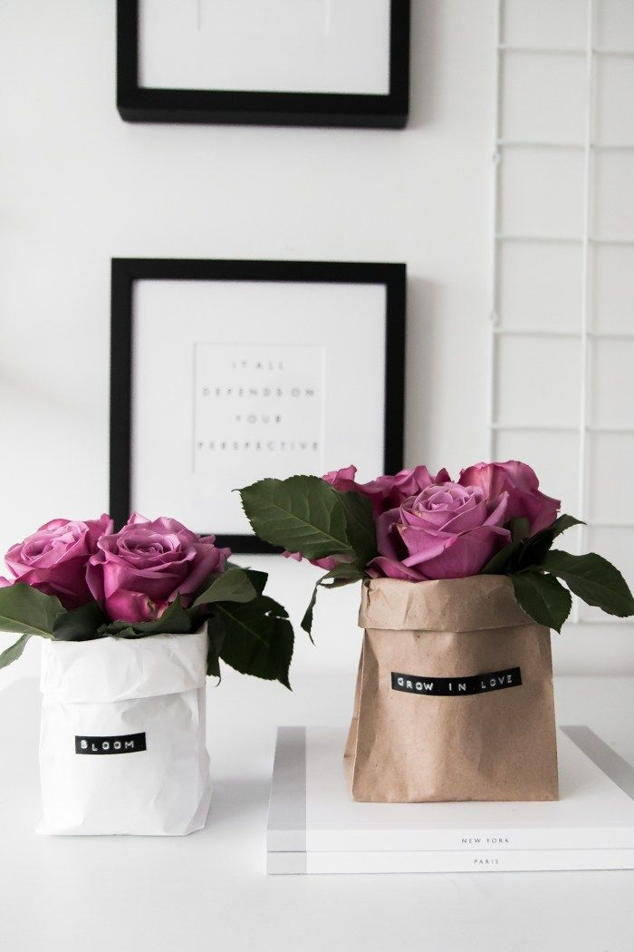 Diy Paper Bag Bouquets Diy Paper Bag Paper Basket Diy Diy Paper