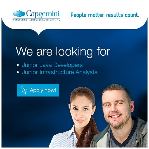 Junior Java Developer? Junior Infrastructure Analyst? We are looking for you! Read more and apply! #jobs #career #Capgemini #IT