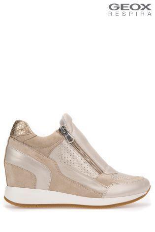 9ec0f97af83e8 Geox Nydame Platinum Gold Wedges | shoes