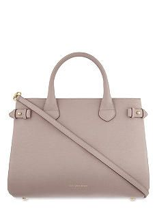 BURBERRY Medium leather banner tote bag