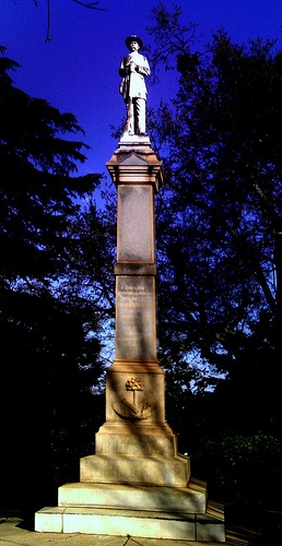 CIvil War statue in Downtown Greenville S.C..Sentry at Springwood Cemetery.