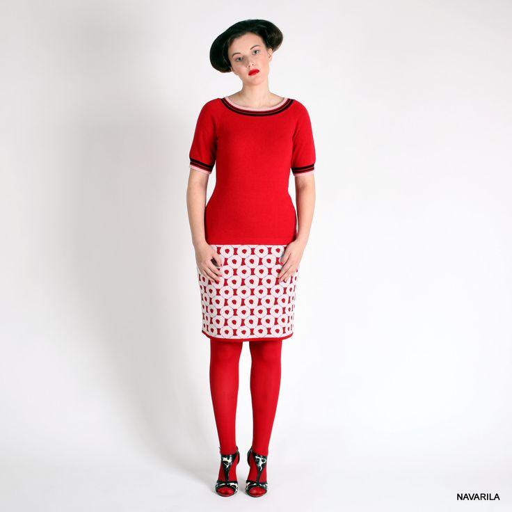 kolečková sukně MIA- úzká Výraznásukně s kolečkovým vzorem je rovná a v délce ke kolenům, v pase do dutiny s gumou. Nabízíme 4 barevné varianty: 1.červenorůžovomodrá 2.zelenomodročerná 3.béžovočernomodrá 4. černobéžovomodrá. Směsová přízeod italského výrobce ve složení 50% merino vlny a 50% polyesteru je již předepraný, nekouše, nežmolkuje- ...