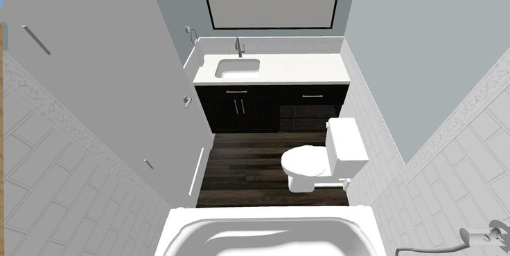 The wood look porcelain in this design is really unique , I cant wait to build this