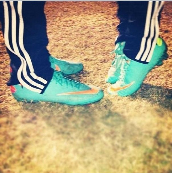 Those are my cleats