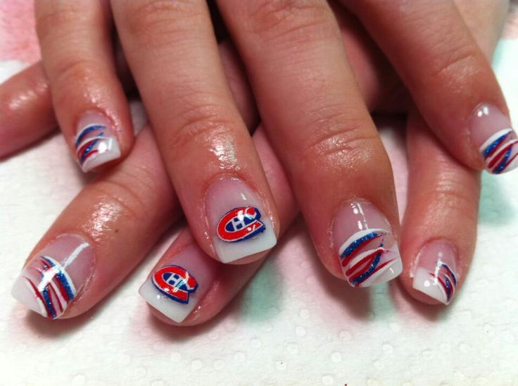 #canadiens, #montreal, #canadiensmontreal, #nails, #nailart, #hockey, #habs