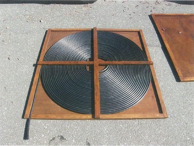 Gonna build this passive solar pool heater and hook it up to my extra sump pump!