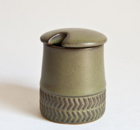 Denby. Chevron. 1961-62. Mustard pot.