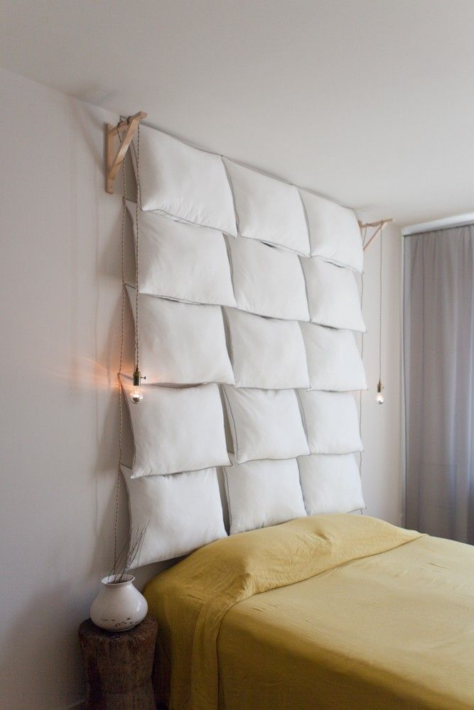 Creating a hanging light from a powerpoint by stringing up a light - Dale Saylor and Joe Williamson in NYC | Remodelista