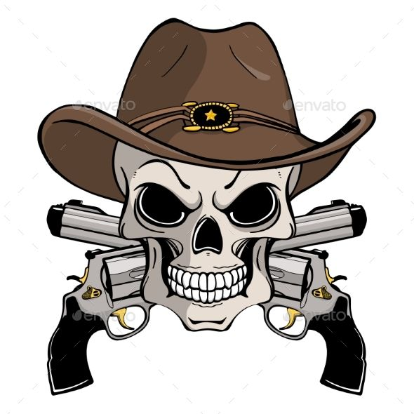 Cowboy Hat  with Crossbones Vinyl Sticker Decal Country Choose Size /& Color