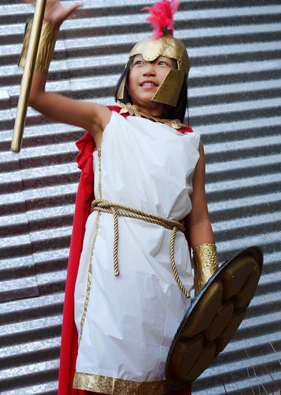 Best 25 athena costume ideas on pinterest greek goddess athena diy greek goddess costume made from a plastic tablecloth solutioingenieria Gallery