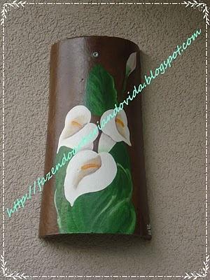 Telha pintada.: Criando, Things To, Making Art, Telha Pintadas, Decorative Painting, Tejas Pintadas, Telha Decoradas, Tejas Decoradas, To Create