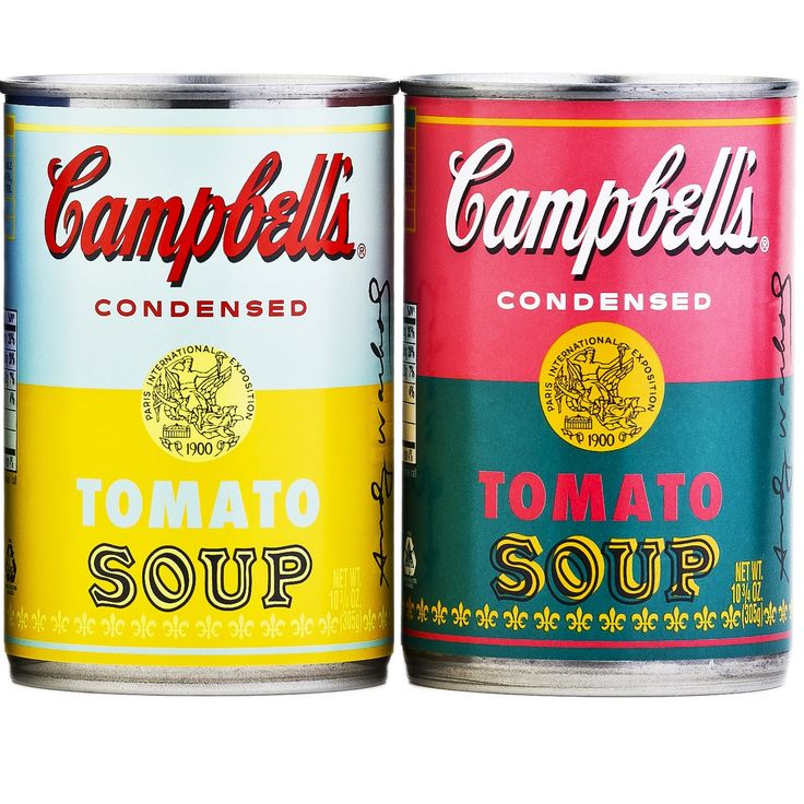 andy warhol campbell's soup - 735×584