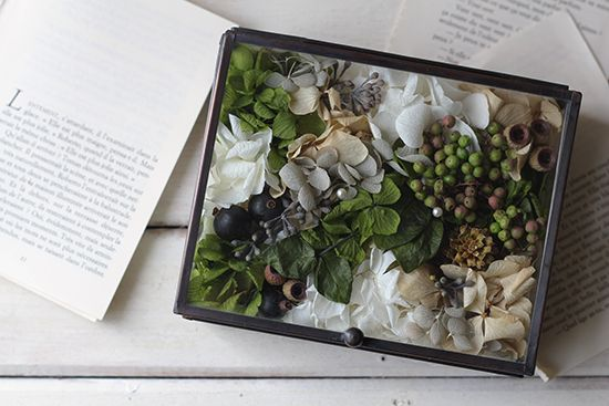 【リングピロー】ガラスケース(ナチュラル) - 花雑貨のお店 tane's garden - プリザーブドフラワーギフト通販